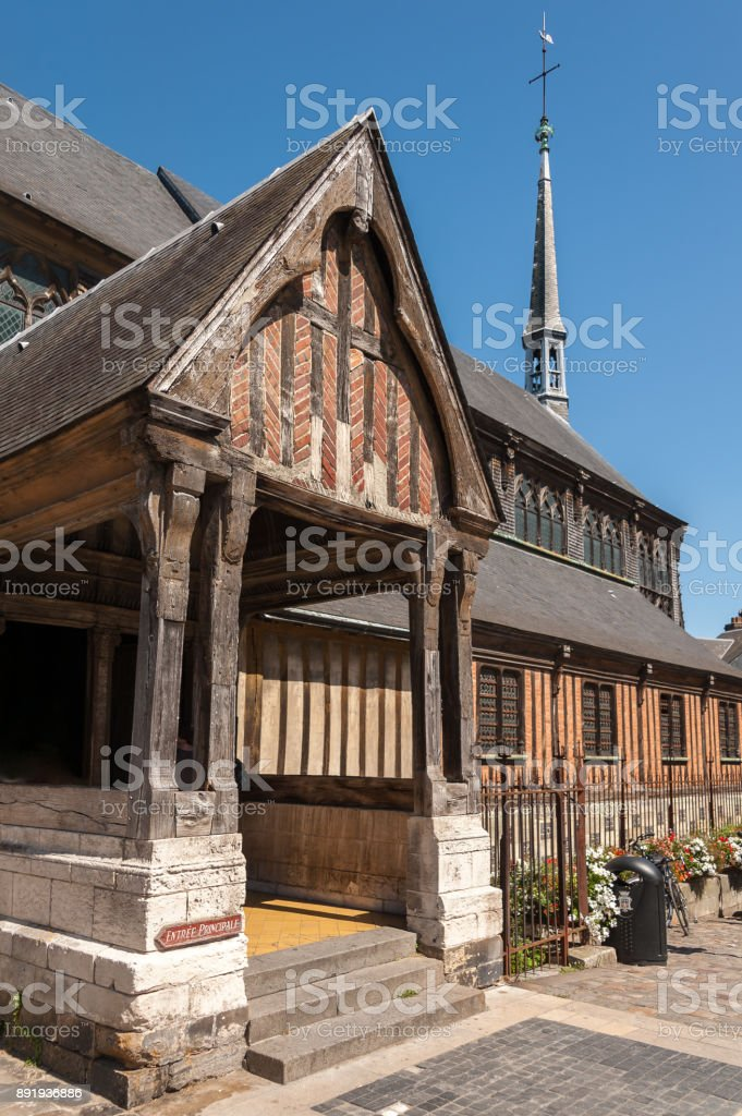 Saint Catherine's Church made of wod in Honfleur Normandy France stock photo