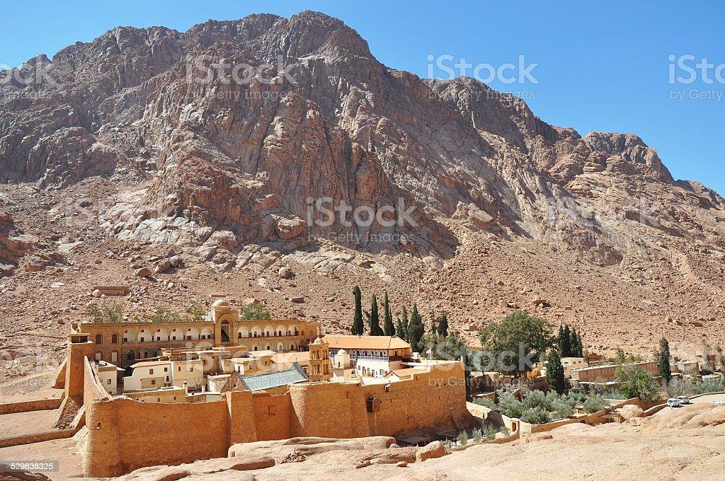 Saint Catherine's Monastery in Egypt stock photo