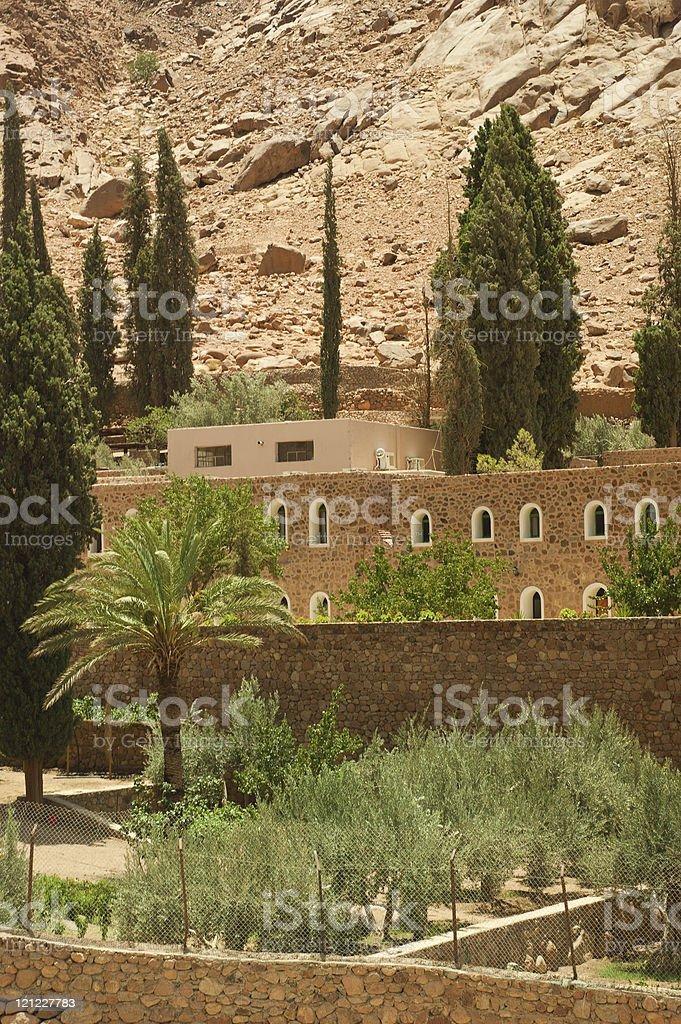 Saint Catherine's monastery in Sinai mountains, Egypt royalty-free stock photo