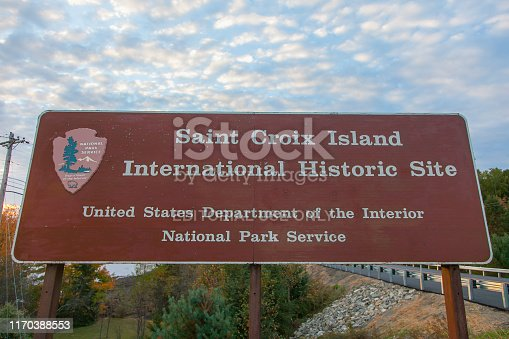 istock Saint Croix Island International Historic Site in Maine 1170388553