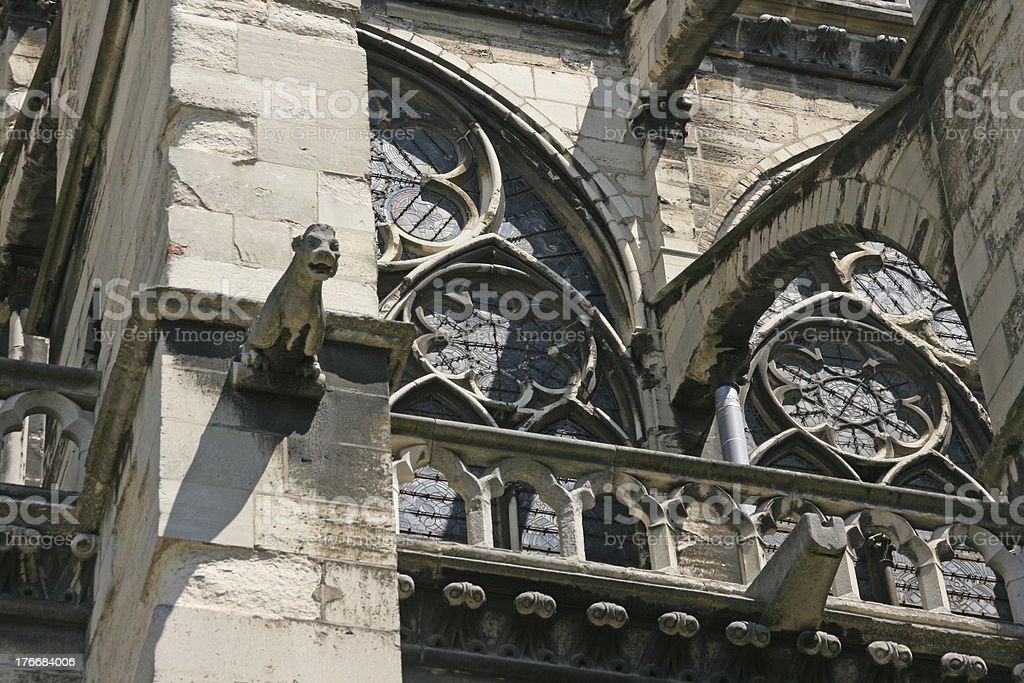 Saint Denis Basilica Cathedral, France stock photo