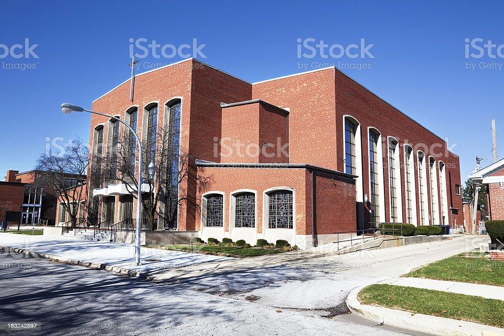 Saint Denis Church in Ashburn, Chicago royalty-free stock photo