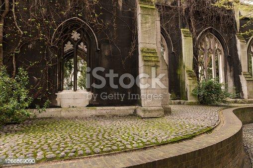 Saint Dunstan in the East Church Ruins.