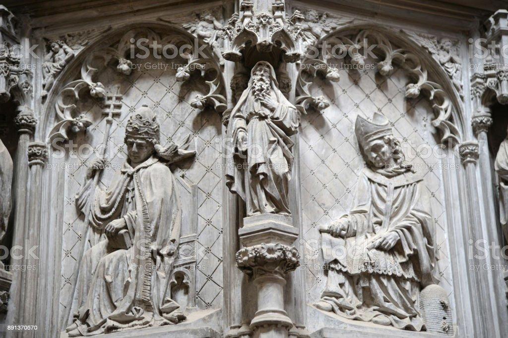 Saint Elisabeth Cathedral decoration - fragment stock photo
