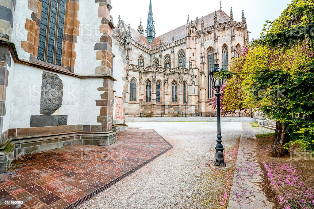 Saint Elizabeth cathedral in Kosice stock photo