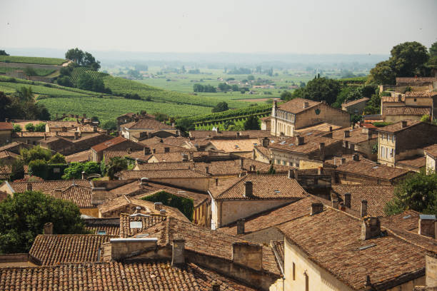 Saint Emilion, France, as seen from above - foto stock