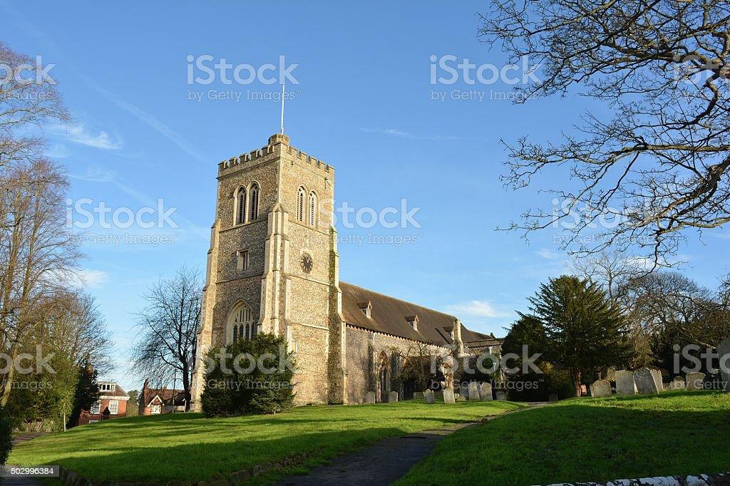 Saint Etheldreda church, Hatfield, Hertfordshire stock photo