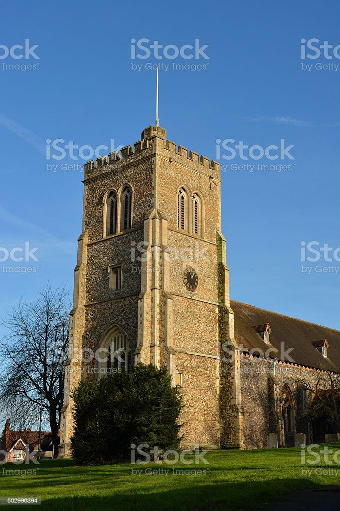 Saint Etheldreda, the parish church in Hatfield, Hertfordshire stock photo