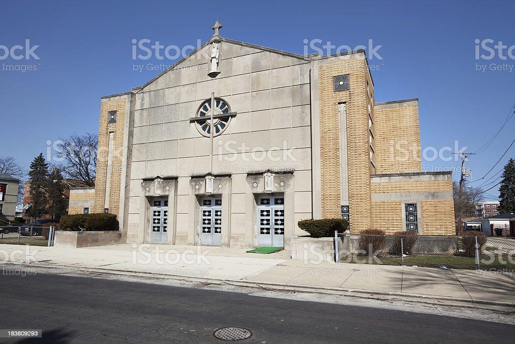 Saint Ethelreda Church in Auburn Gresham, Chicago royalty-free stock photo