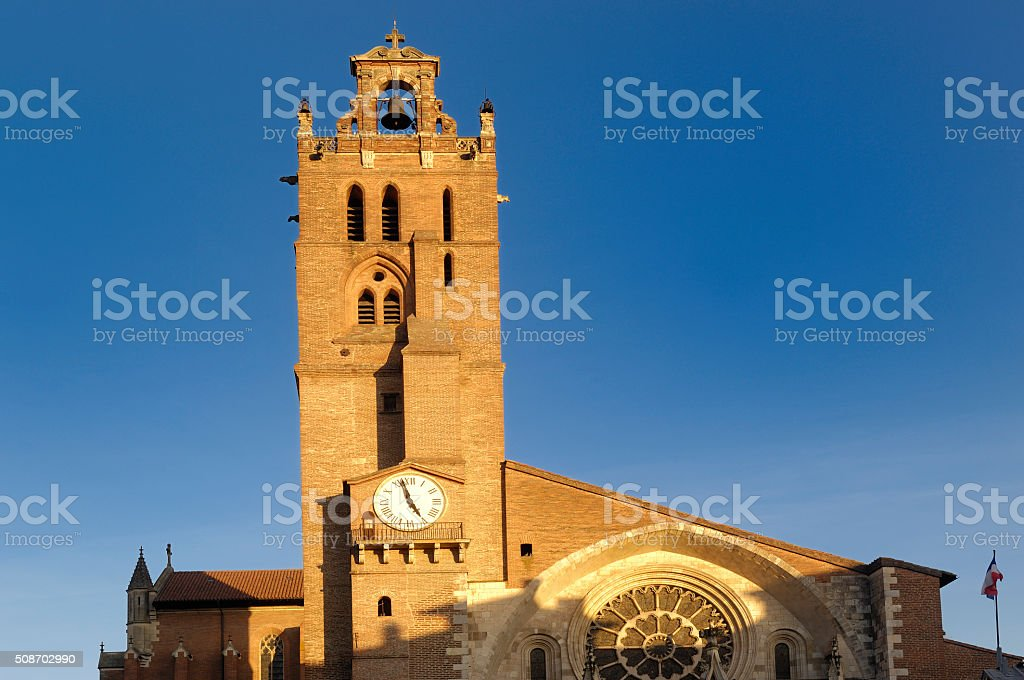 Saint Etienne Cathedral in Toulouse, France stock photo
