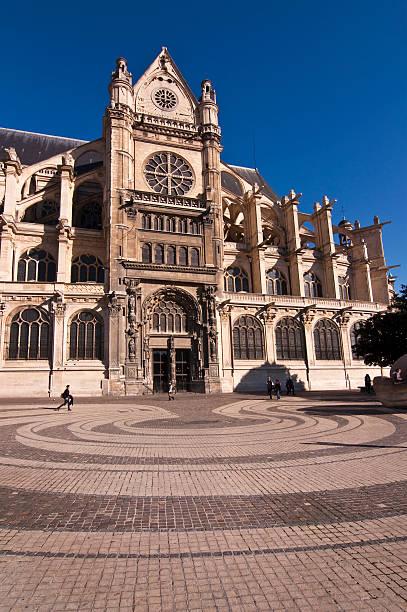 santa chiesa di sant'eustachio, les halles, parigi, francia - saint eustache church foto e immagini stock
