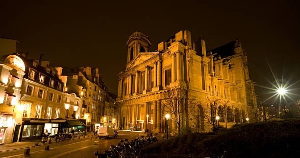 santa chiesa di sant'eustachio, les halles, parigi - saint eustache church foto e immagini stock