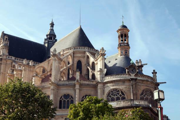 saint eustache church - paris - france, - saint eustache church foto e immagini stock