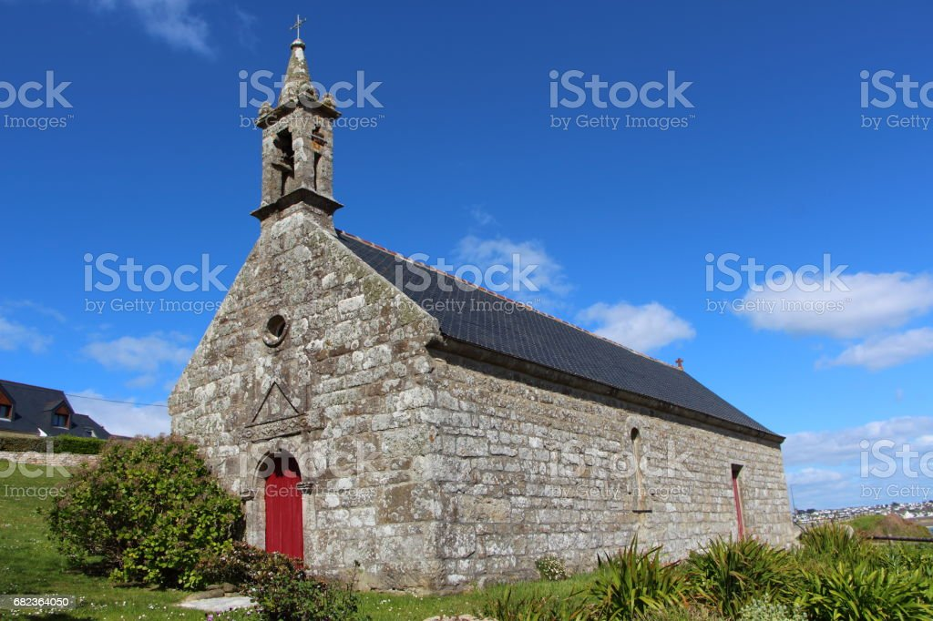 Sainte Evette chapel in Esquibien royalty-free stock photo