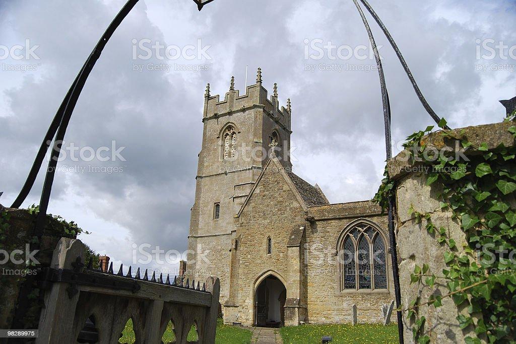 Saint Faith with All Saints Church, Coleshill, Oxfordshire, England royalty-free stock photo