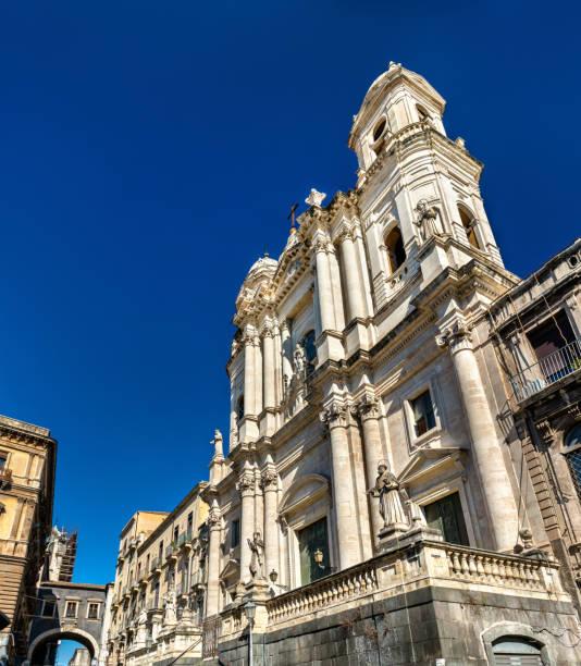 saint francis church in catania, sicily - pope francis zdjęcia i obrazy z banku zdjęć