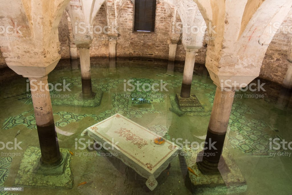 Saint Francis Church in the city of Ravenna in Italy Central stock photo