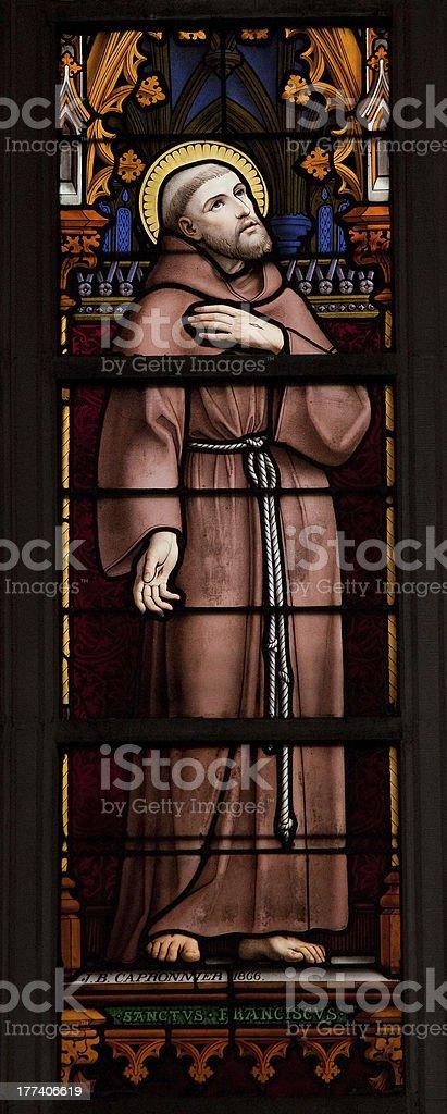 Saint Francis of Asisi stock photo