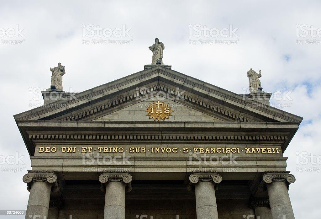 Saint Francis Xavier Church in Dublin, Ireland stock photo