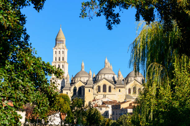 Saint Front Cathedral in Perigueux stock photo