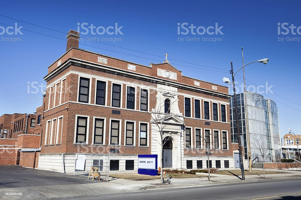 Saint Gall School in Gage Park, Chicago royalty-free stock photo