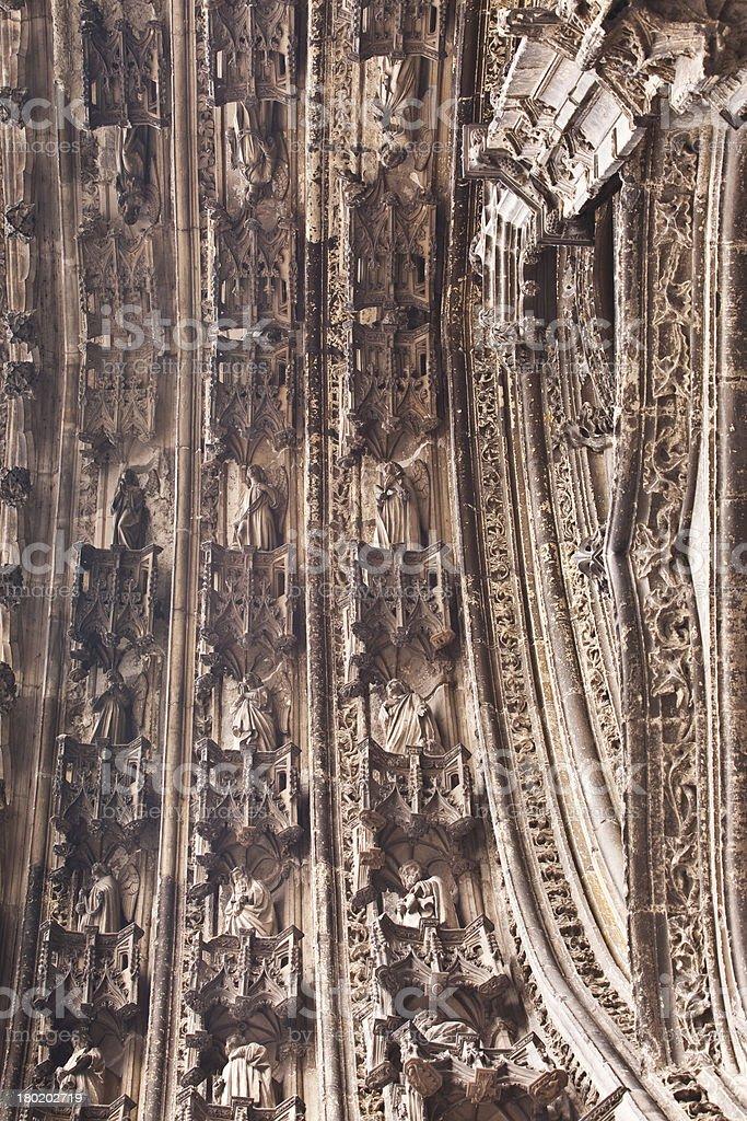 Saint Gatien tympanum royalty-free stock photo
