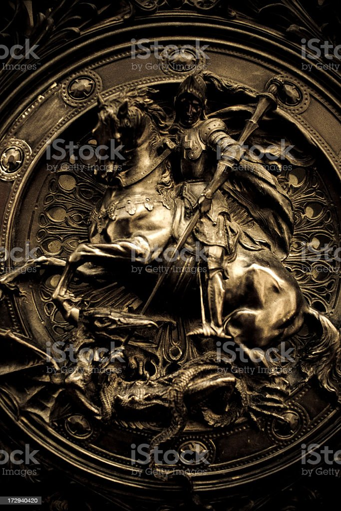 saint George and the Dragon stock photo