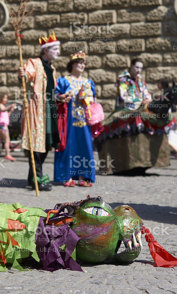 Saint George and the dragon royalty-free stock photo