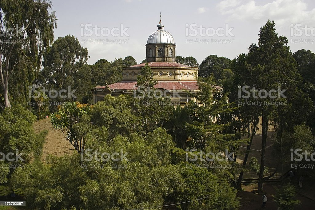 Saint George cathedral in Addis royalty-free stock photo