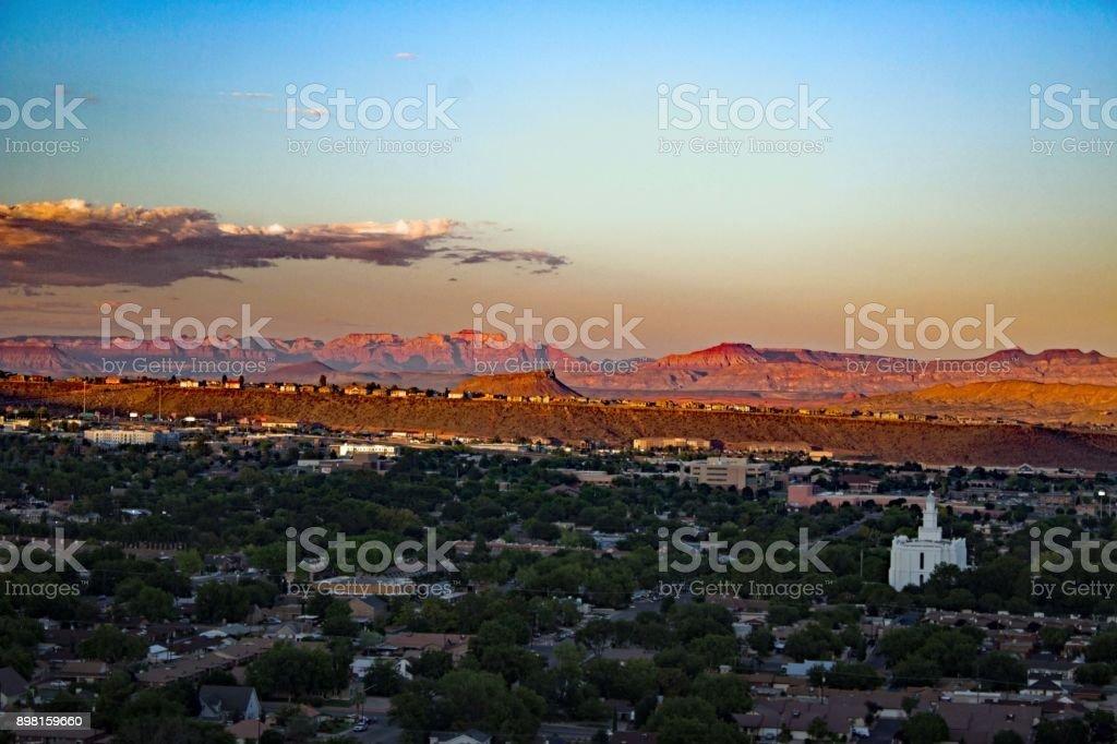 Saint George / Utah - Overlook by night royalty-free stock photo