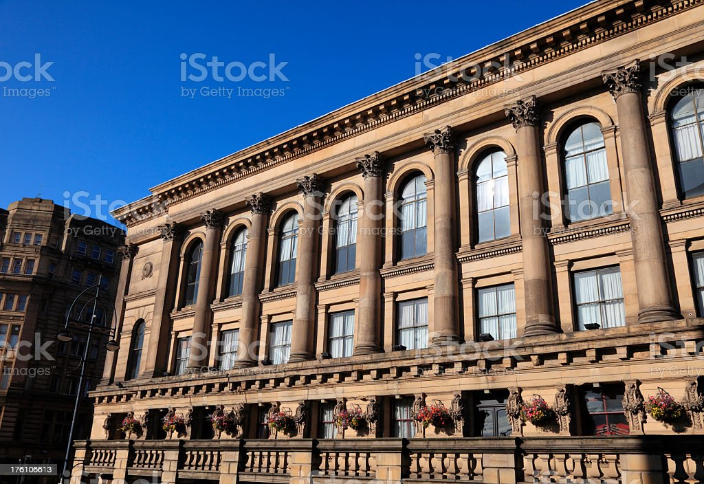 Saint George's Hall in Bradford stock photo