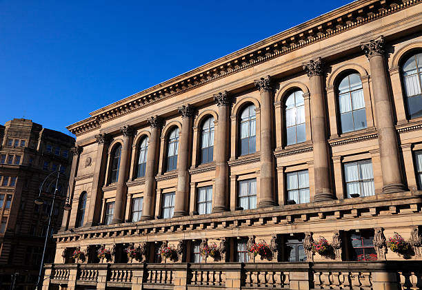 Saint George's Hall in Bradford stock photo
