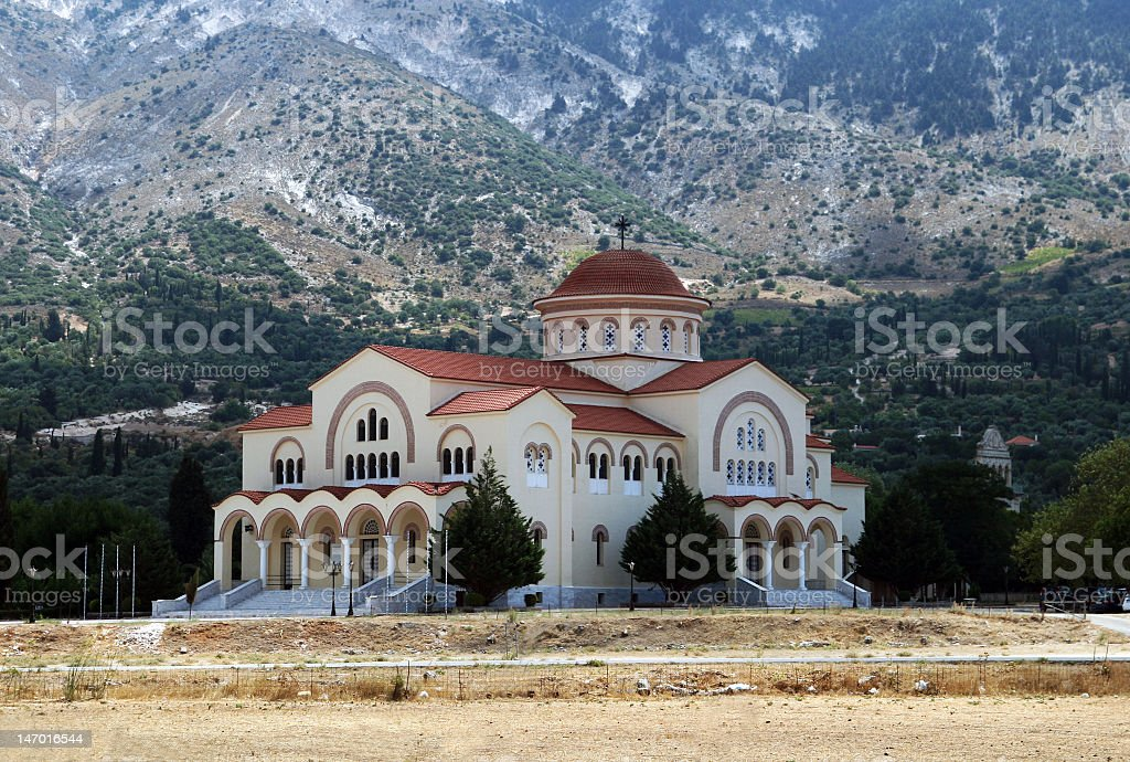Saint Gerasimos monastery, Kefalonia stock photo
