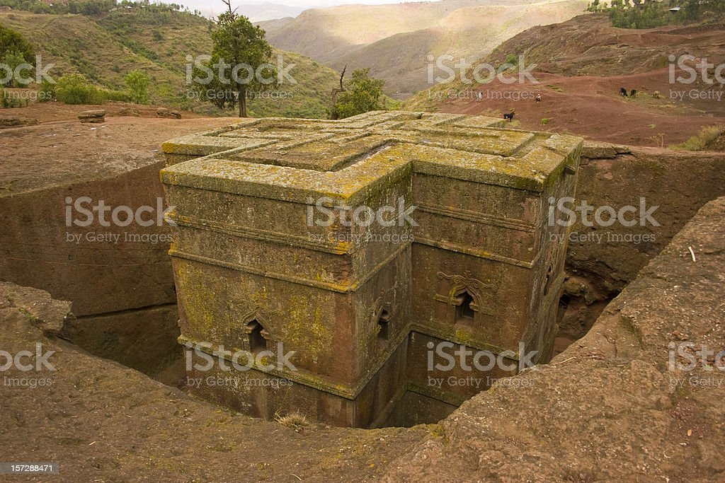Saint Giorgis, Lalibela, Ethiopia stock photo
