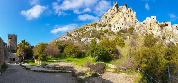 Saint Hilarion Castle, Kyrenia, Cyprus stock photo