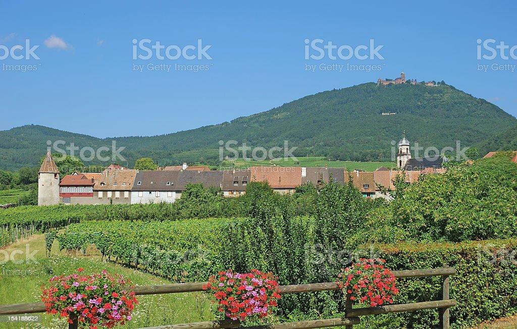 Saint Hippolyte,Alsace,France royalty-free stock photo