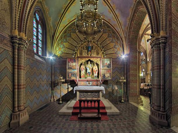 聖イムレ、ハンガリー ブダペスト マーチャーシュ教会礼拝堂 - マーチャーシュ教会 ストックフォトと画像
