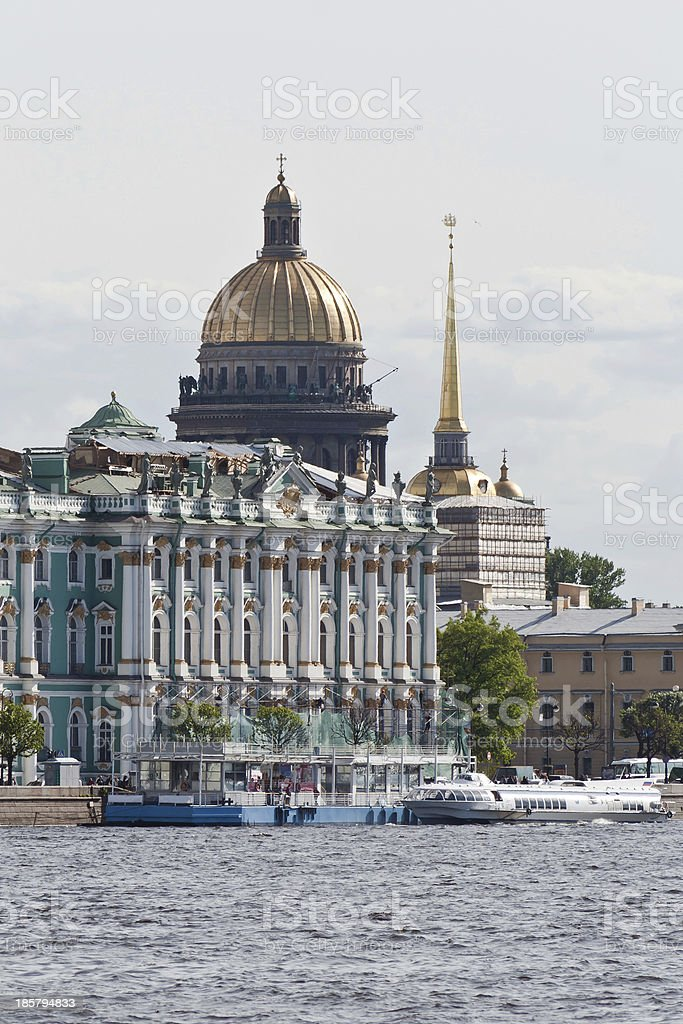 Saint Isaac Cathedral, St. Petersburg, Russia stock photo