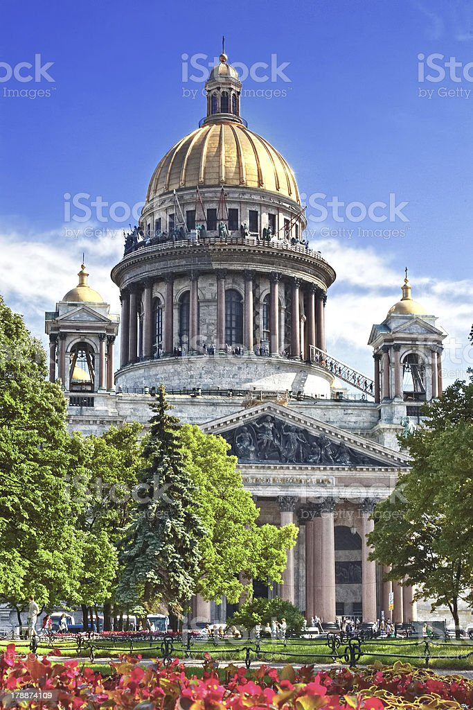 Saint Isaac's Cathedral in St Petersburg royalty-free stock photo