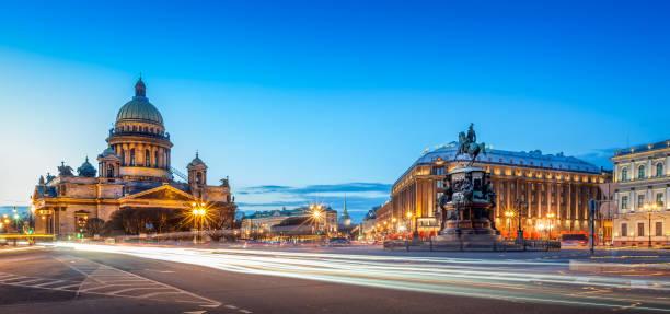 saint isaac's cathedral - sint petersburg rusland stockfoto's en -beelden