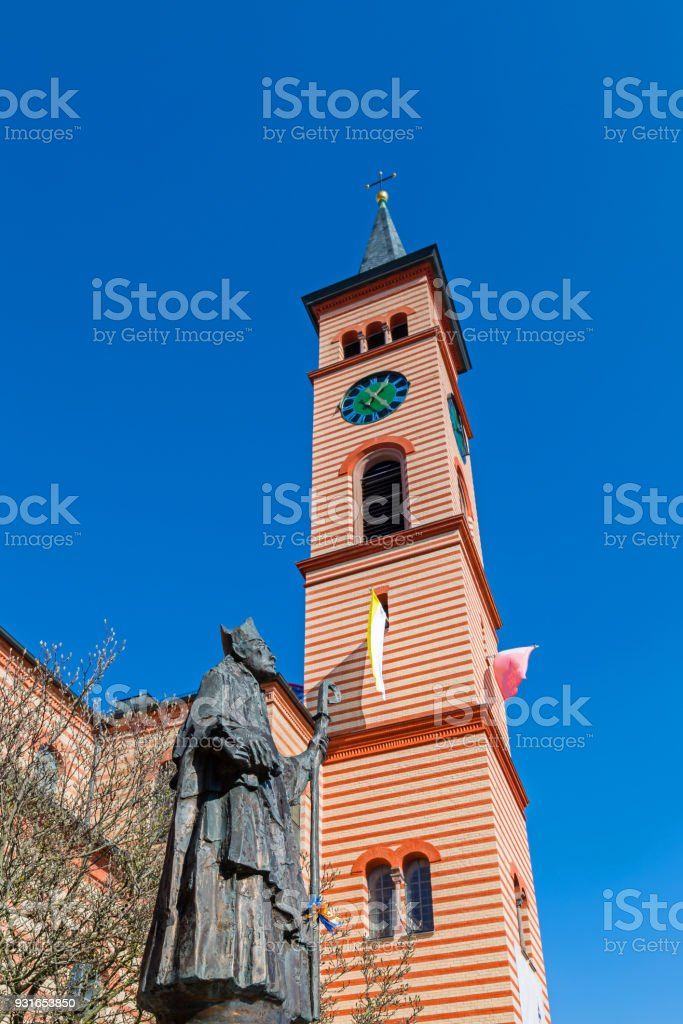 Saint Jakob church in Friedberg stock photo