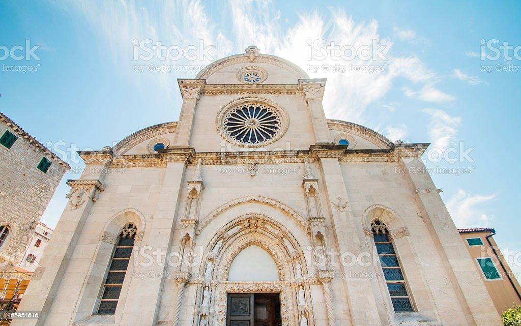 Saint James cathedral in Sibenik stock photo