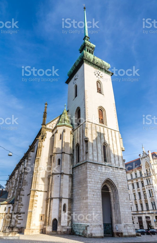 Saint James Church - Brno, Czech Republic stock photo