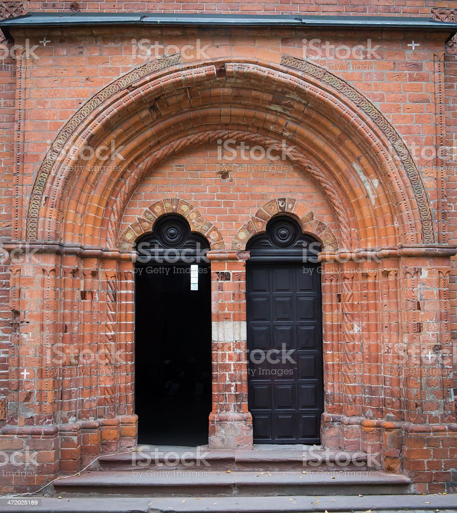 Saint James church portal stock photo