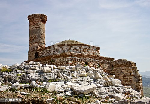old castle whose name is saint jean castle, located in selcuk, izmir.