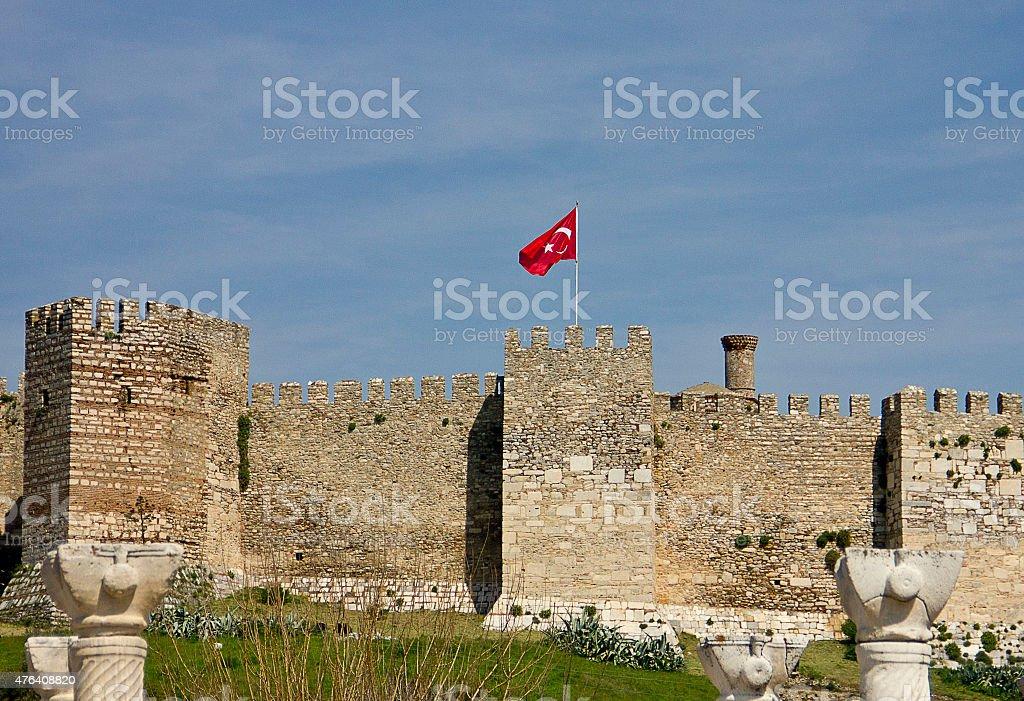 saint jean castle stock photo