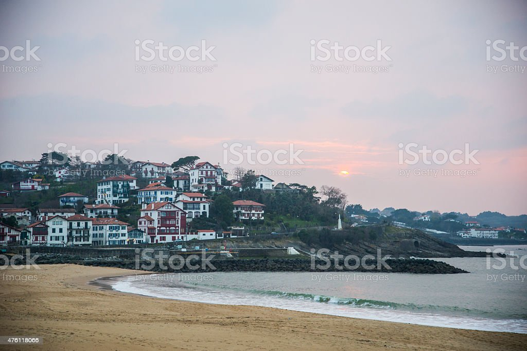 Saint Jean de Luz, sunset. stock photo