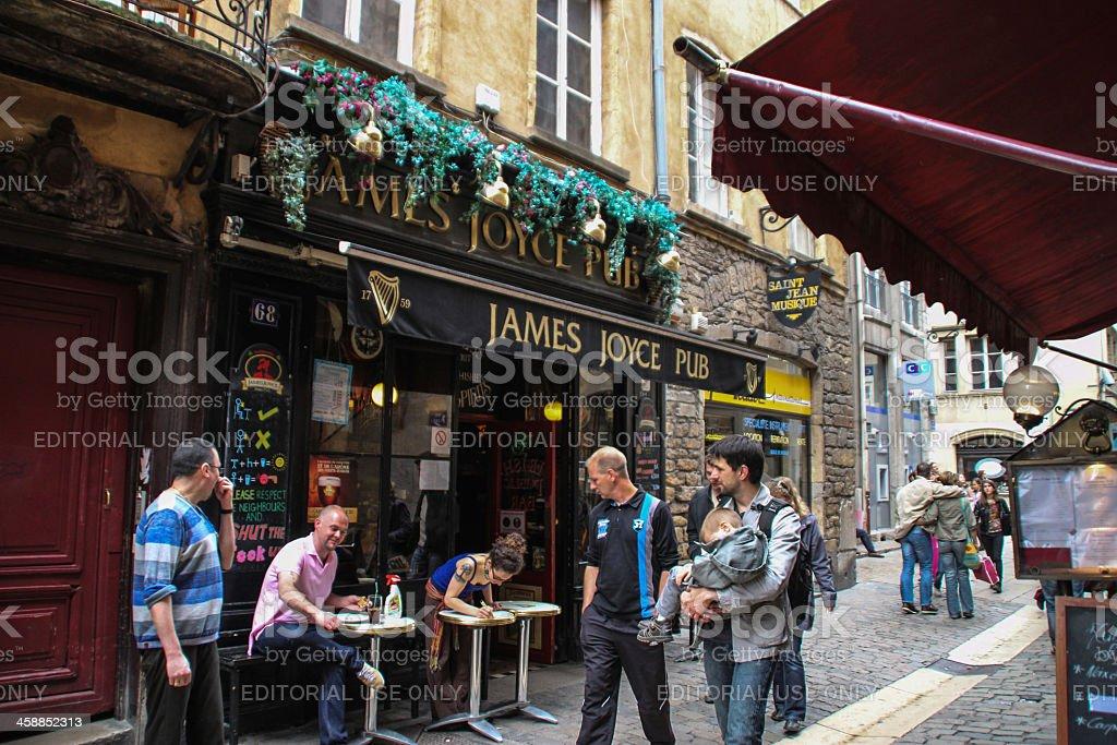 Saint Jean Street in Lyon, France stock photo
