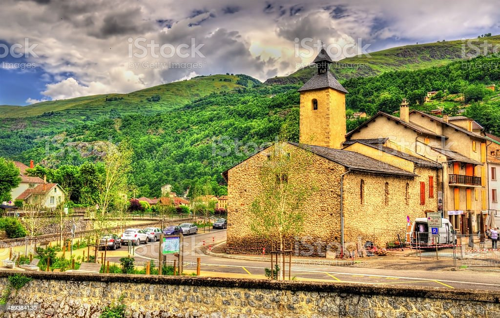 Saint Jerome church in Ax-les-Thermes - France, Midi-Pyrenees stock photo