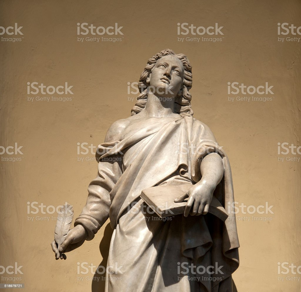 Saint Johannes.  Basilica Cathedral of Lima, Peru. stock photo